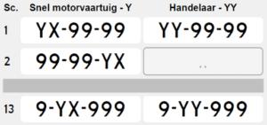 Y-nummers motorboot